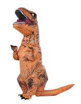 T-Rex with Sound Inflatable Kids Costume back