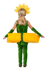 Sunflower Petal Pockets Girl Costume back