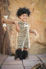 Cavebaby Boy Toddler Costume back