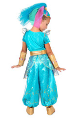 Shine Genie Girl Costume back