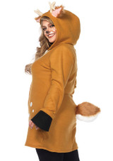 Cozy Deer Women Costume Plus back