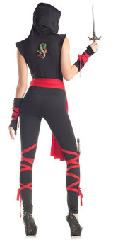 Ninja Womens Costume - Mortal Combat back