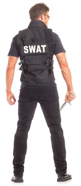 SWAT Mens Costume back