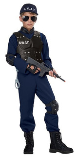 SWAT Police Boy Costume