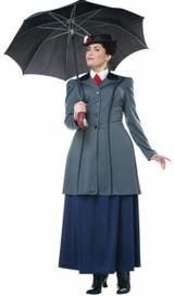 English Nanny Woman Plus Costume