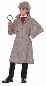 English Detective Sherlock Holmes Boy Costume