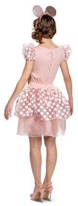 Minnie Mouse Rose Gold Adult Costume back
