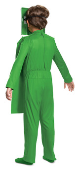 Minecraft Creeper Child Costume back