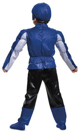 Power Rangers Blue Ranger Beast Morpher Costume Back View