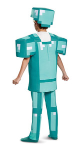 Minecraft Armor Boy Costume back