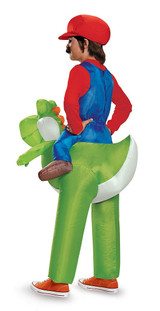 Mario Riding Yoshi Inflatable Child back