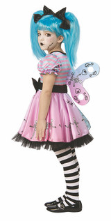 Little Blue Doll Skelly Costume back