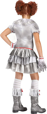 IT Clown Carnevil Girl Costume back
