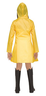 IT Yellow Raincoat Girl Costume back