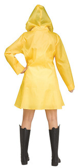 IT Yellow Raincoat Woman Costume back