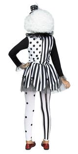 Killer Clown Girl Costume back