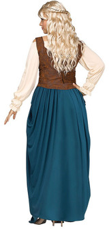 Viking Queen Woman Plus Costume back