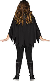 Skeleton Poncho Girl Costume back