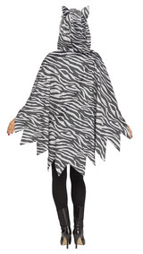 Cat Poncho Woman Costume back
