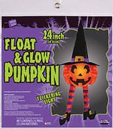 Pumpkin Float and Gloat with Kight up Hanging Decor 24""