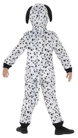 Dalmatian Hooded Jumpsuit Girl Costume back