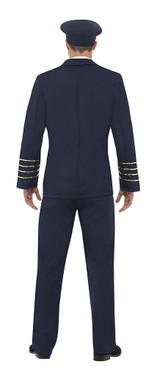 Classic Pilot Man Costume back