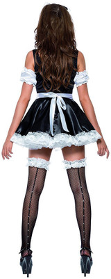 Flirty French Maid Woman Costume back