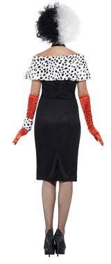 Cruela Devil Woman Costume back