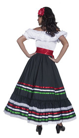 Mexican Dancer Woman Costume back