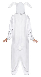 Rabbit White Hooded Jumpsuit Woman Costume back