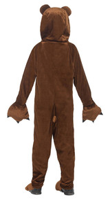 Bear Hooded Jumpsuit Girl Costume back