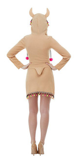 Llama Woman Costume back