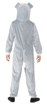 Grey Dog Onesie Girl Costume back