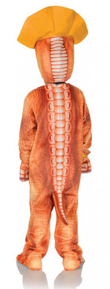 Costume Triceratops Orange Bambin back