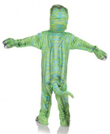 Green T-Rex Printed Animals Costume back