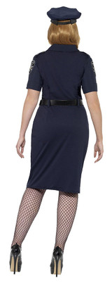 Curves NYC Cop Woman Costume back
