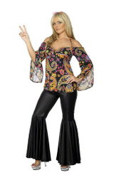 Patterned Hippie Woman Costume back