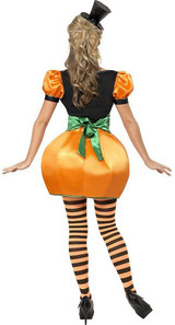Pumpkin Woman Costume back
