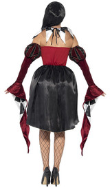 Gothic Venetian Harlequin Woman Costume back
