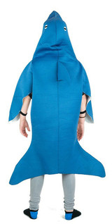 Shark Kid Foam Costume back