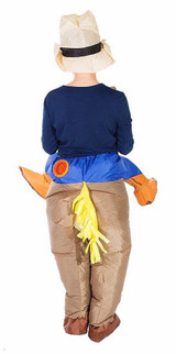 Cowboy Kid Inflatable Costume back
