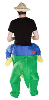 T-Rex Adult Inflatable Costume back