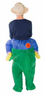 T-Rex Kid Inflatable Costume back