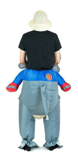 Elephant Adult Inflatable Costume back