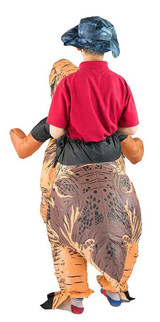 Premium Dinosaur Kid Inflatable Costume back