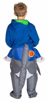 Shark Kid Inflatable Costume back