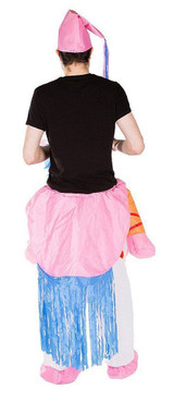 Unicorn Adult Inflatable Costume back