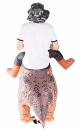 Premium Dinosaur Adult Inflatable Costume back