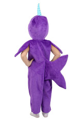 Minky Narwhal Boy Costume back