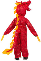 Chinese Dragon Jumpsuit Boy Costume back